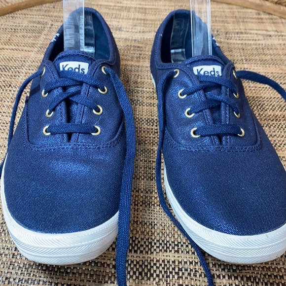 Keds Metallic Navy Blue Sneakers Size 11 EUC
